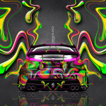 Honda Civic Type-R JDM Back Super Plastic Abstract Car 2014