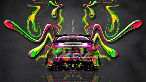 Honda-Civic-Type-R-JDM-Back-Super-Plastic-Aerography-Abstract-Car-2014-Art-Multicolors-HD-Wallpapers-design-by-Tony-Kokhan-www.el-tony.com_