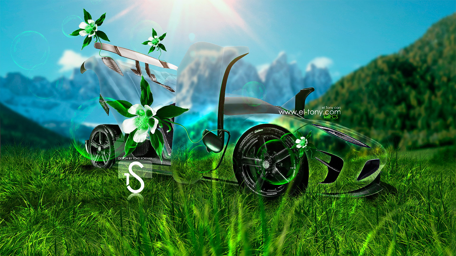 Charmant Koenigsegg Agera R Fantasy Flowers Crystal Car  2013 HD Wallpapers By Tony Kokhan [www.el Tony.com]