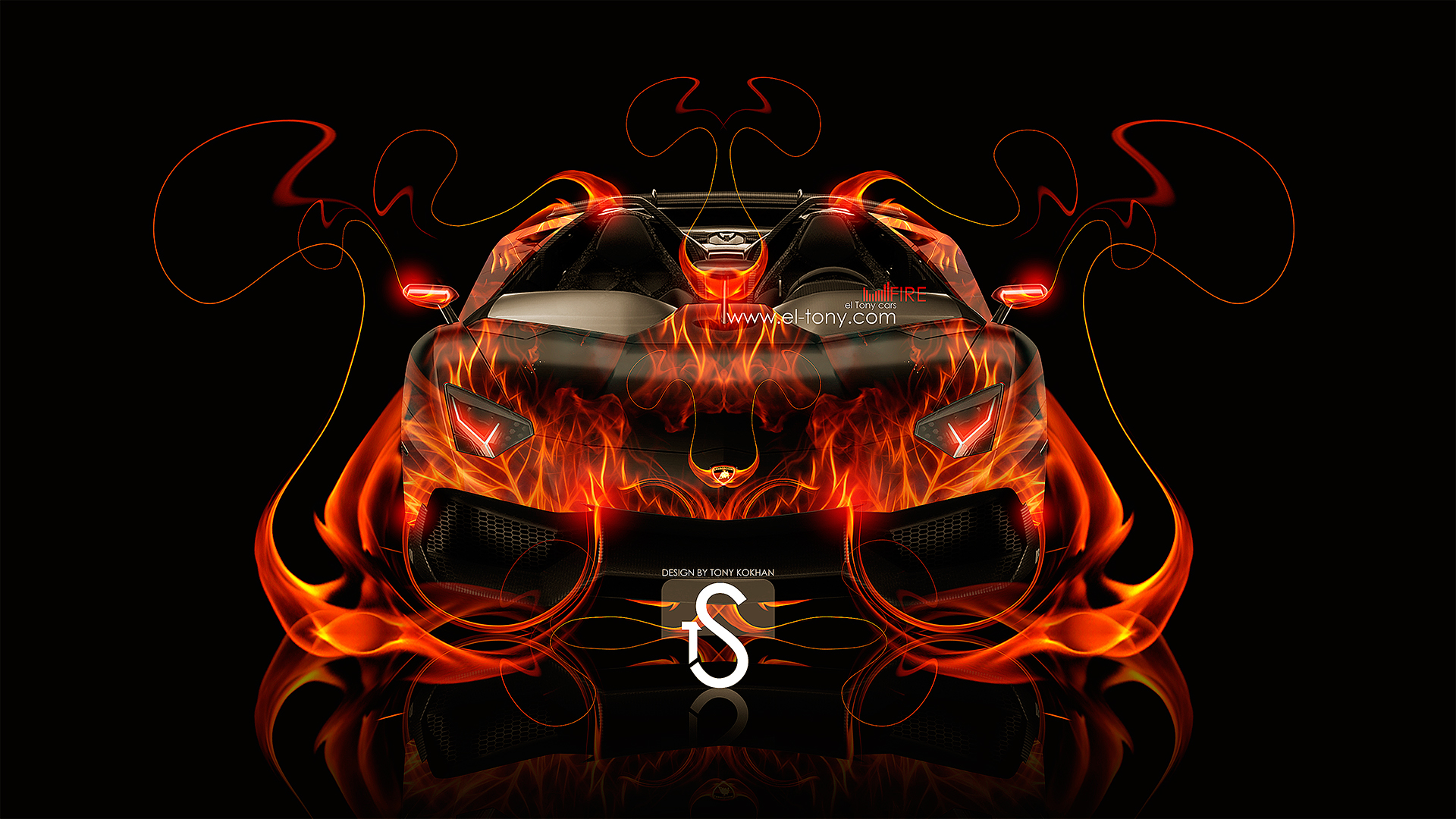 Perfect Lamborghini Aventador J Fire Car 2013 Front View