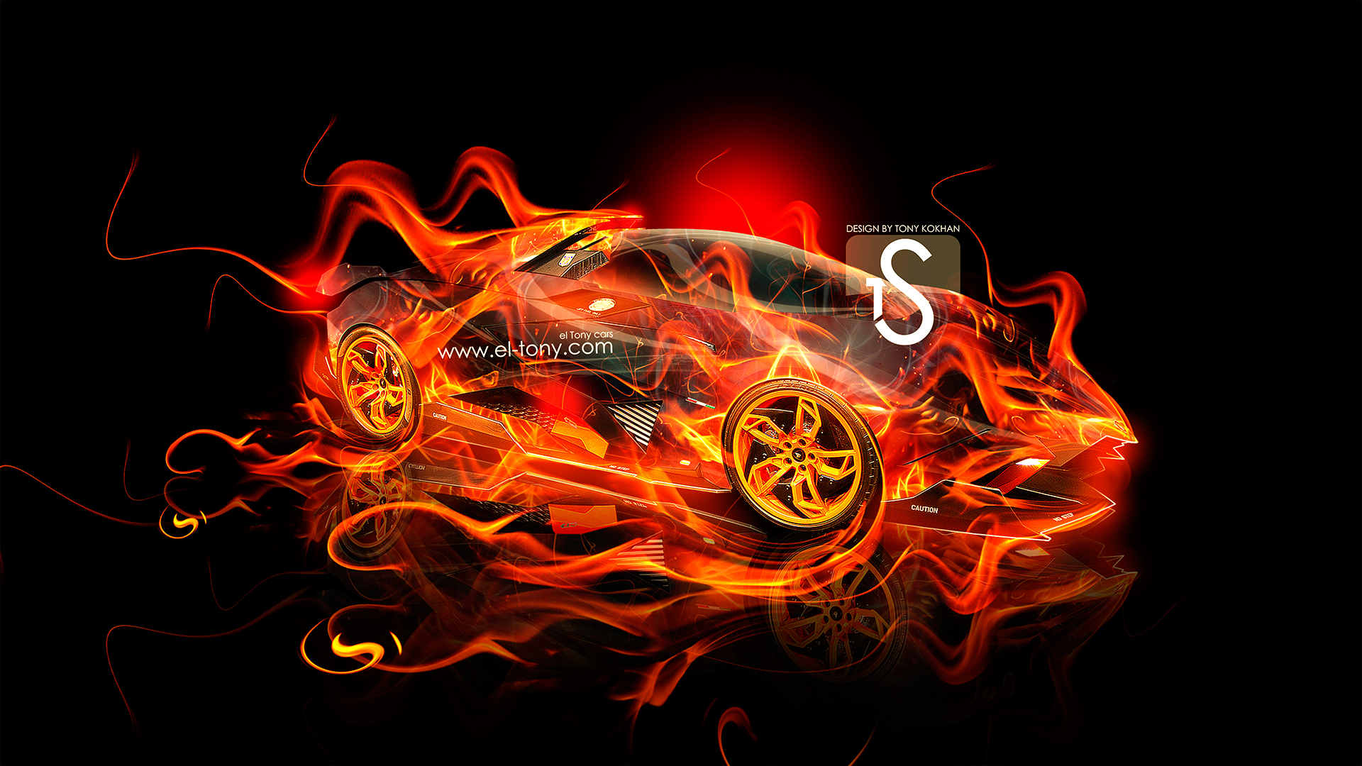 lamborghini egoista fire car 2013 abstract style hd