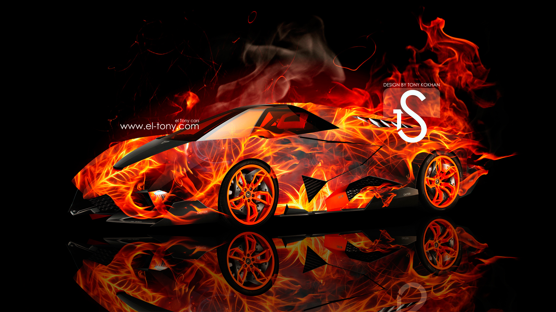 lamborghini egoista fire car 2013 hd wallpaper 1920x1080