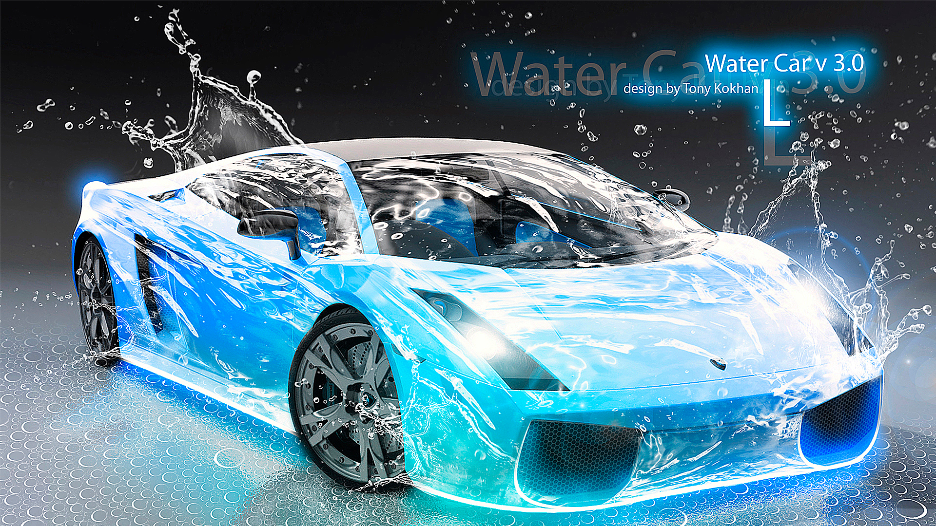 Lamborghini Gallardo Water Car Blue 2012 HD Wallpapers