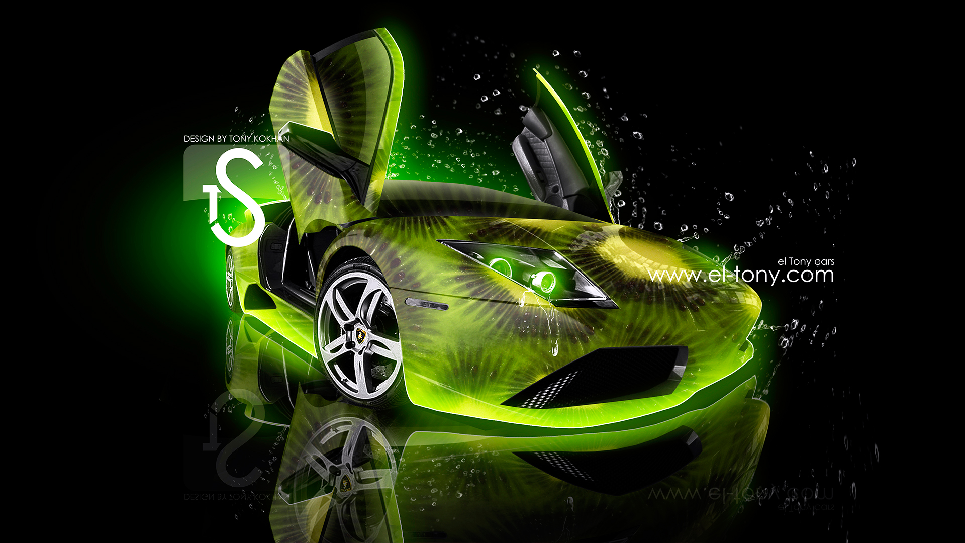 Merveilleux ... Lamborghini Murcielago Kiwi Car 2013 HD Wallpapers Design  ...