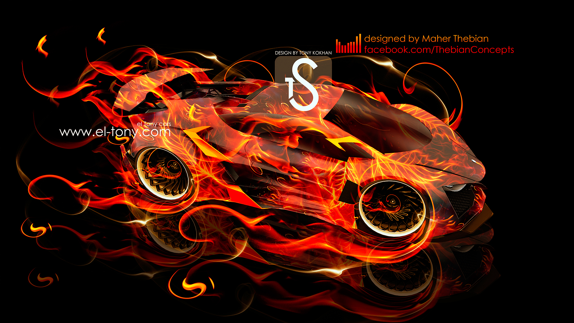 Lamborghini Sinistro Designed By Maher Thebian Fire Car  Awesome Ideas