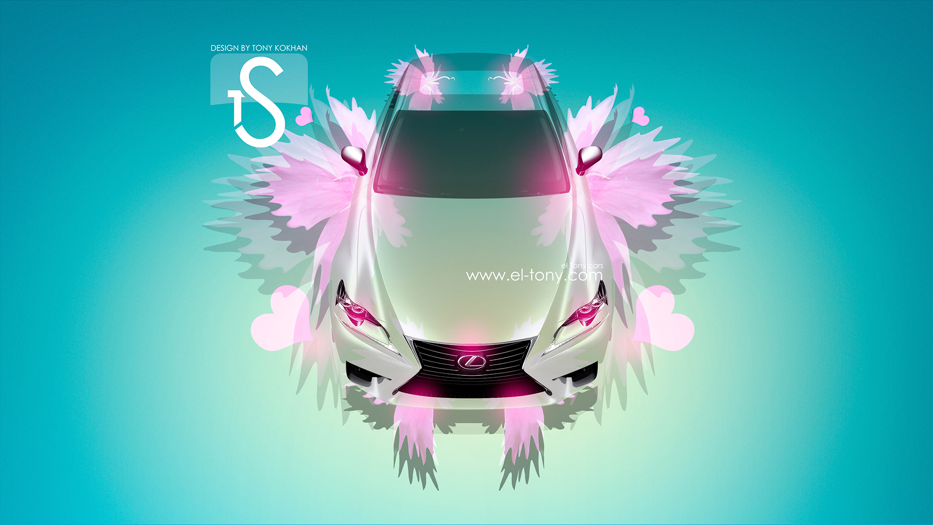 ... Lexus IS Pink Fantasy Flower Car HD Wallpapers  ...