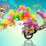Velocifero Side Fantasy Flowers Butterfly Bike 2014