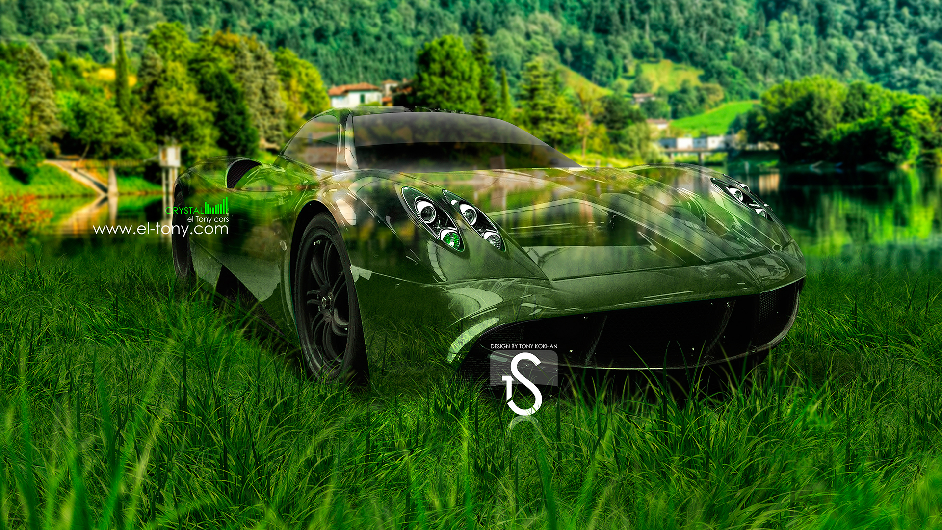 Merveilleux Pagani Huayra Crystal Car 2013 Nature  Green Grass HD Wallpapers Design By Tony Kokhan 1920×1080 [www.el Tony.com]