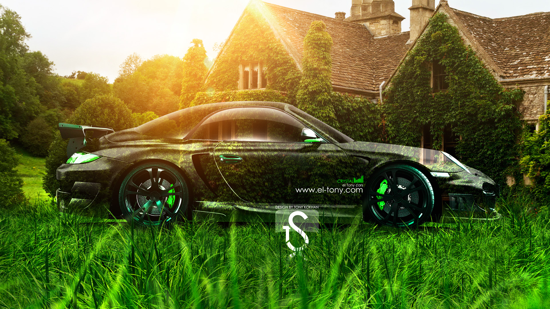 Exceptionnel Porsche 997 Turbo Crystal Nature Car Side 2013