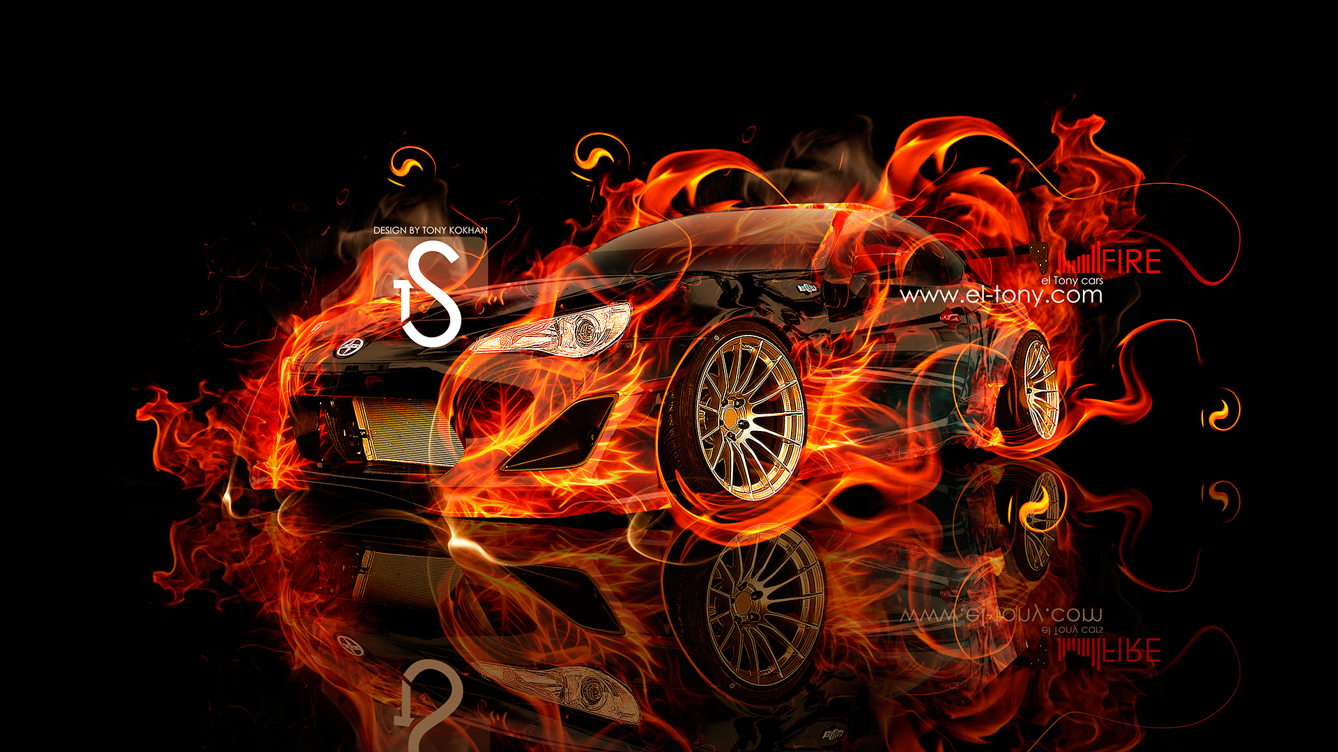 Scion FR S Fire Car 2013 Abstract Front