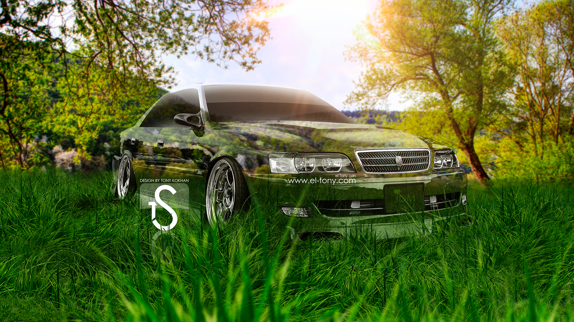 Toyota Chaser JZX100 JDM Crystal Nature Car 2013 .