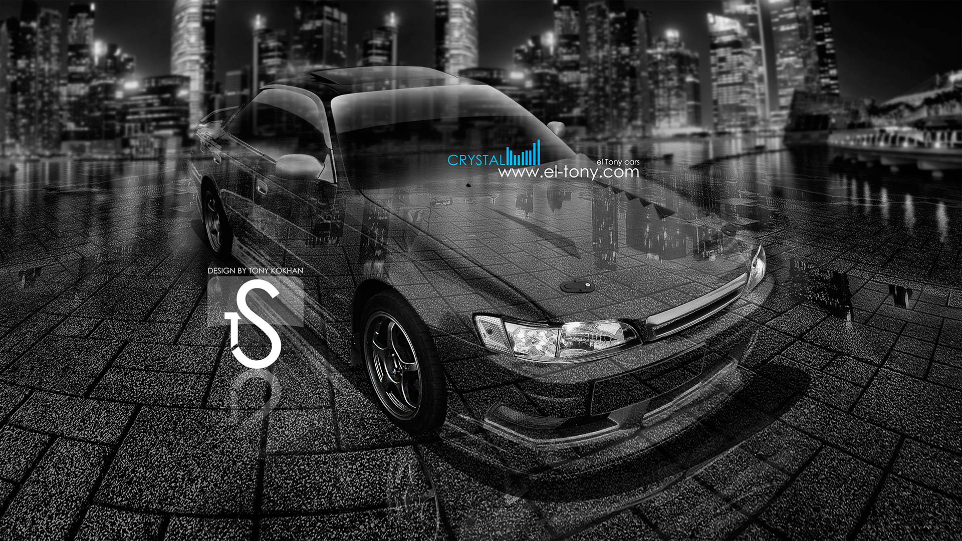 Marvelous Toyota Mark 2 JZX90 JDM Crystal Car 2013 City Style  HD Wallpapers Design By Tony Kokhan [www.el Tony.com]