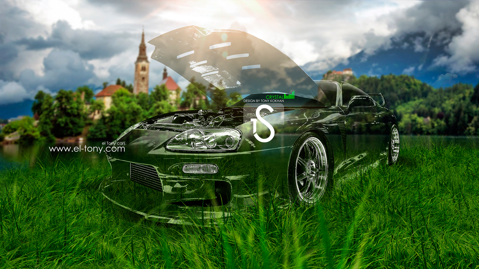 Toyota Supra JDM Crystal Car 2013 Nature Green