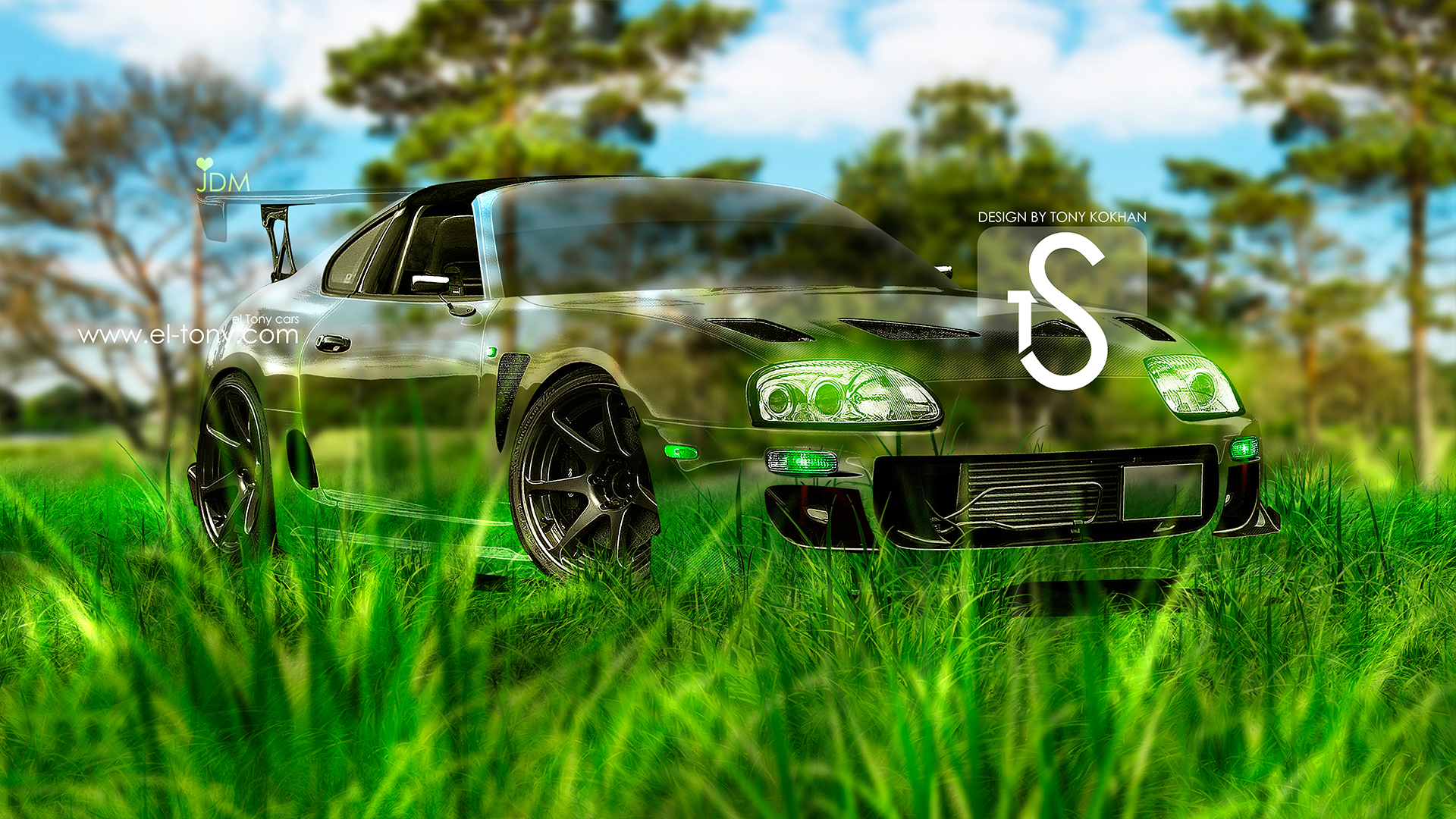Awesome Toyota Supra JDM Crystal Nature Car 2013 Front .