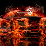 Audi R8 Fire Car Abstract 2013