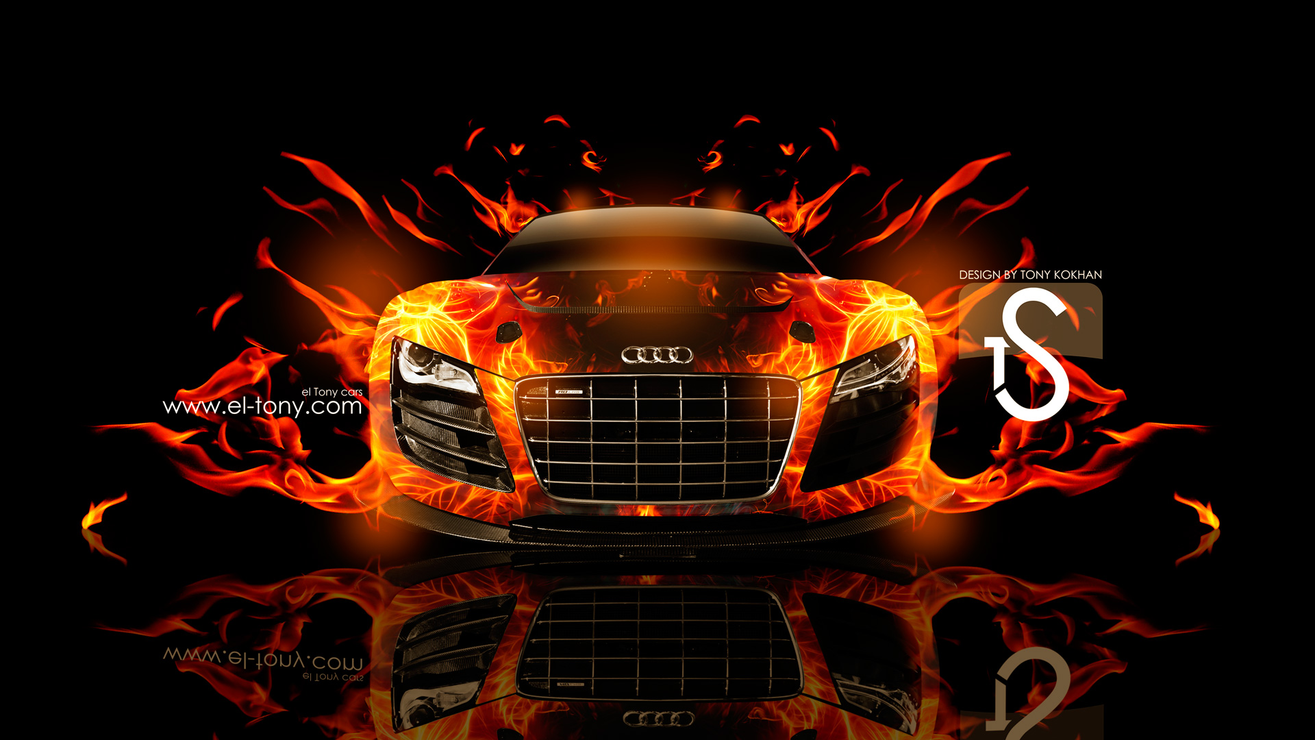 Ordinaire Audi R8 Fire Car Abstract 2013 HD Wallpapers