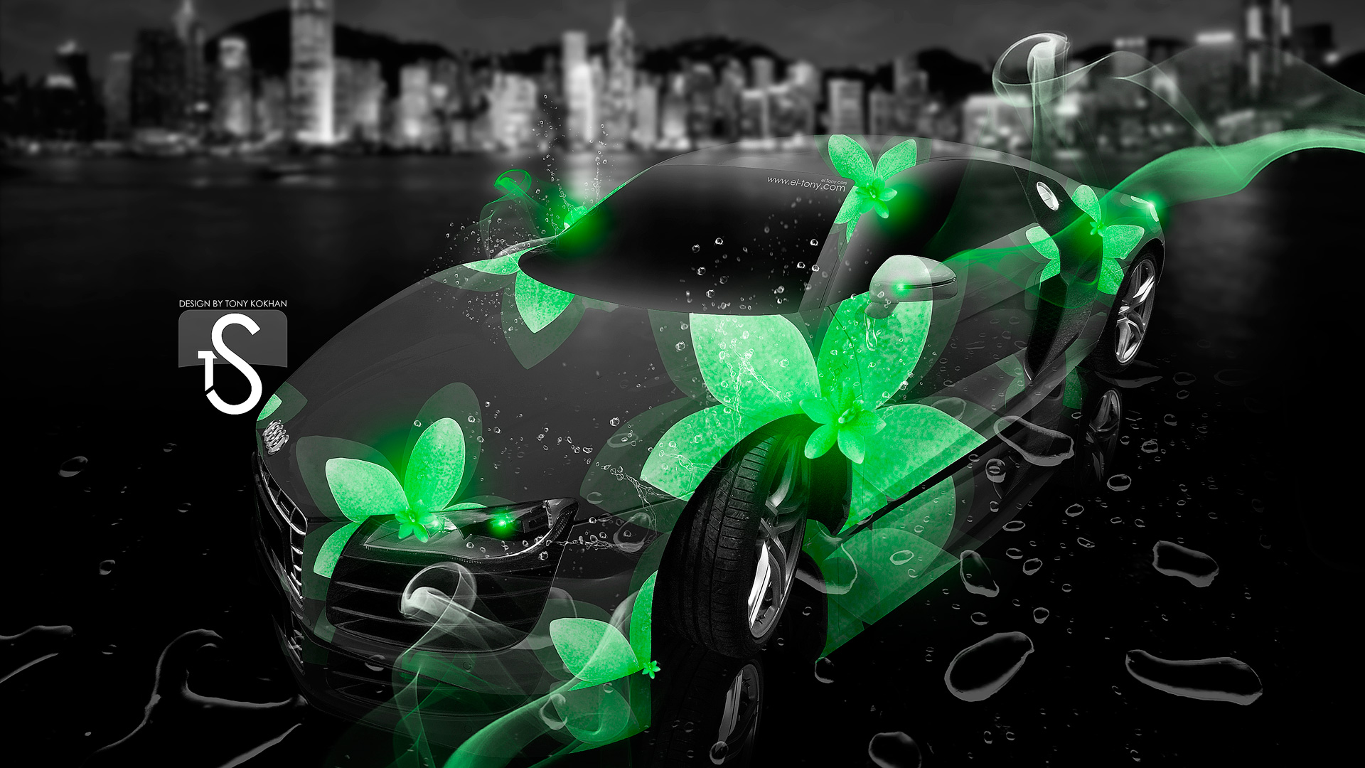 Nissan 370Z Crystal City Car 2013 · Audi R8 Neon Flowers Fantasy City 2013