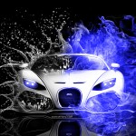 Bugatti Fire Water Abstract Mix 2013