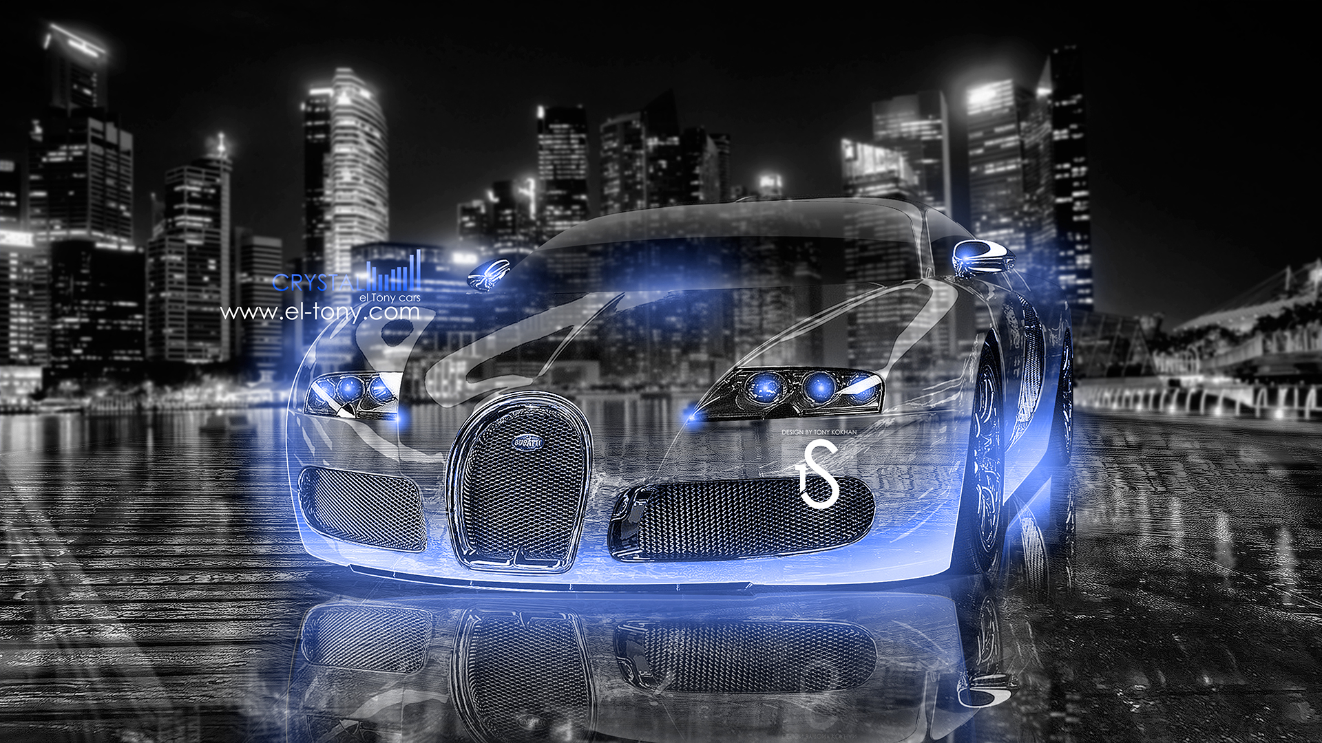 Merveilleux Bugatti Veyron Crystal City Car 2013 Dark Blue  ...