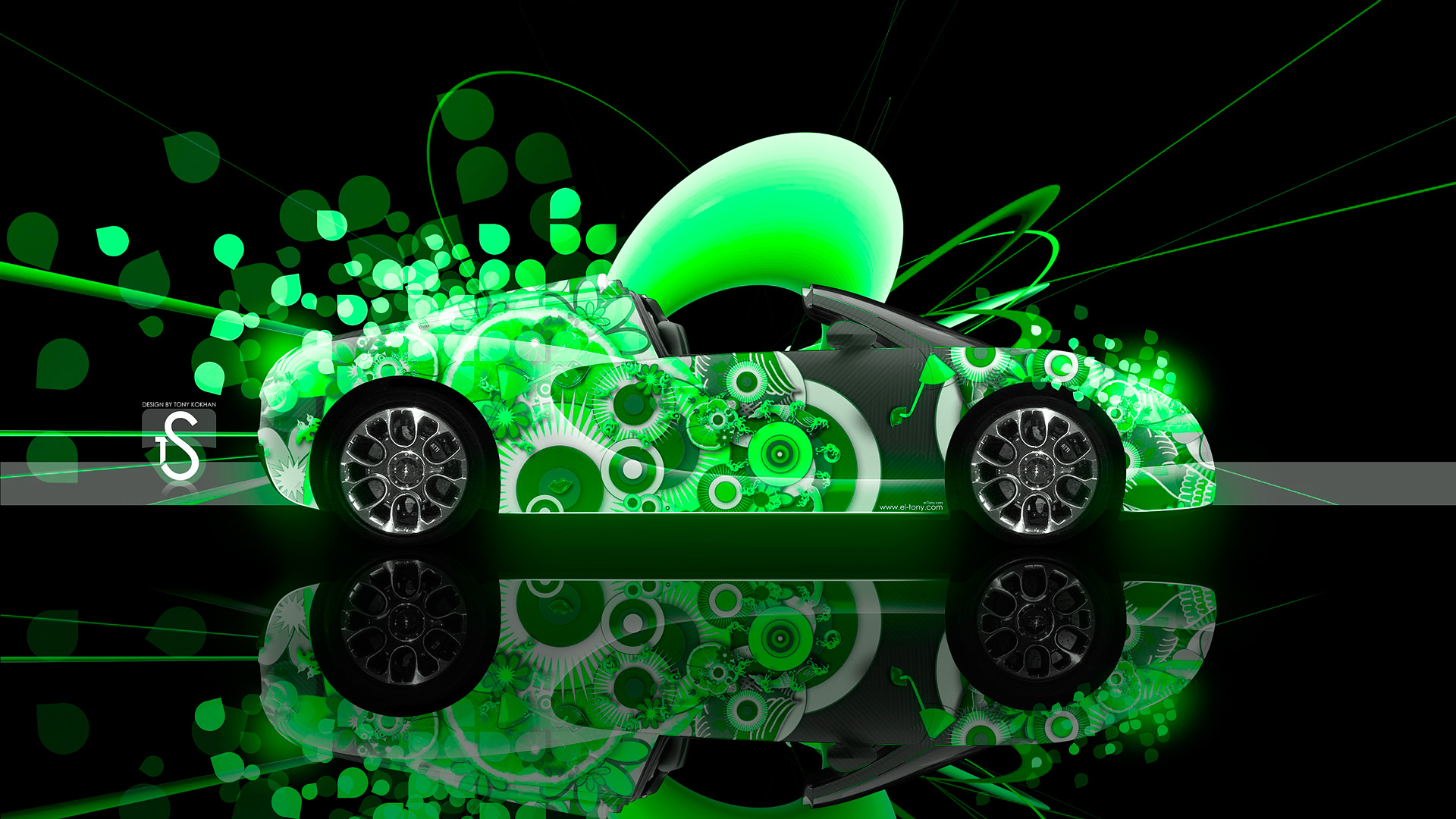Genial ... Bugatti Veyron Super Abstract Car 2013 Green HD