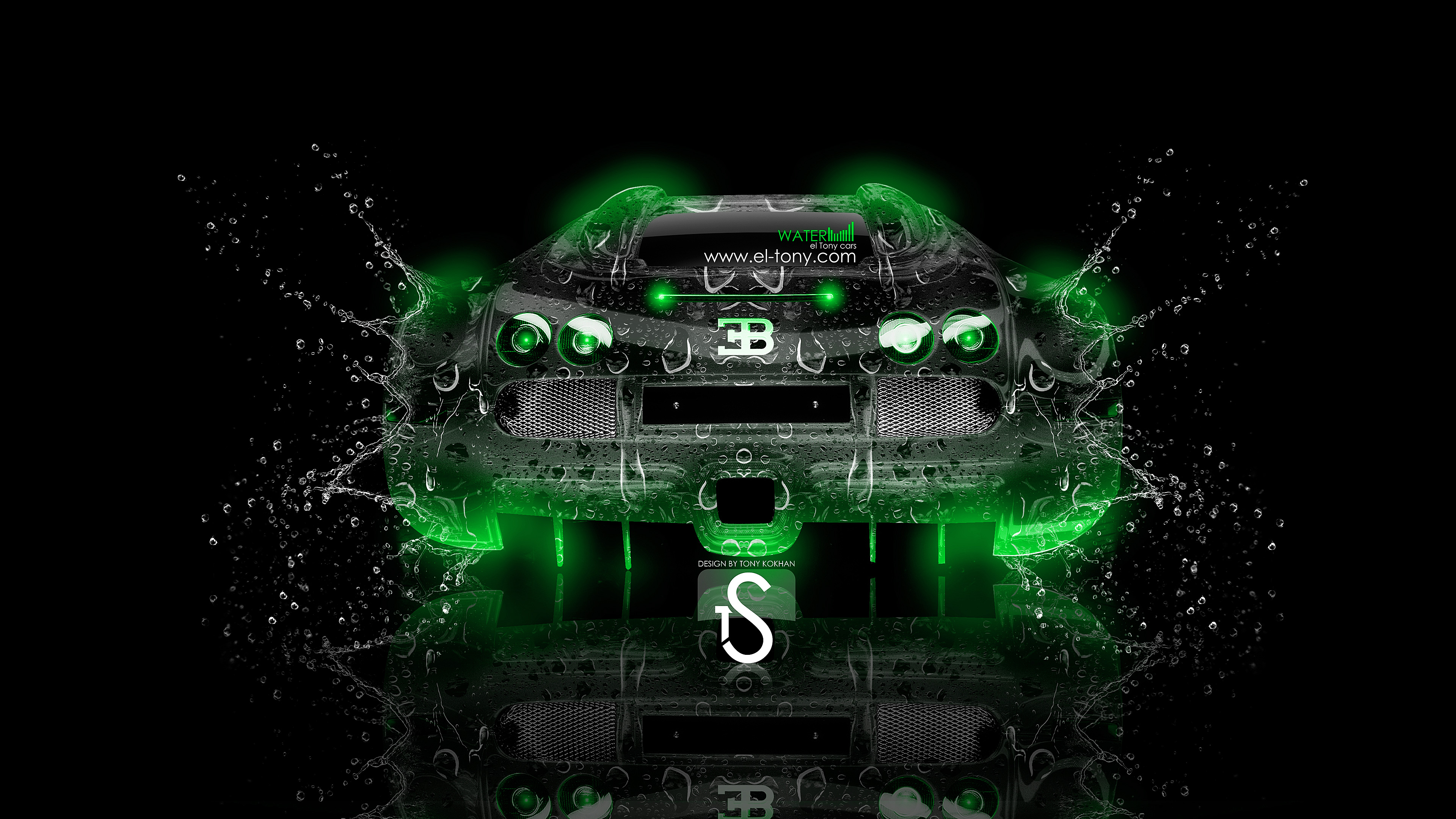 Superieur ... Bugatti Veyron Water Car 2013 Back Green Neon  ...