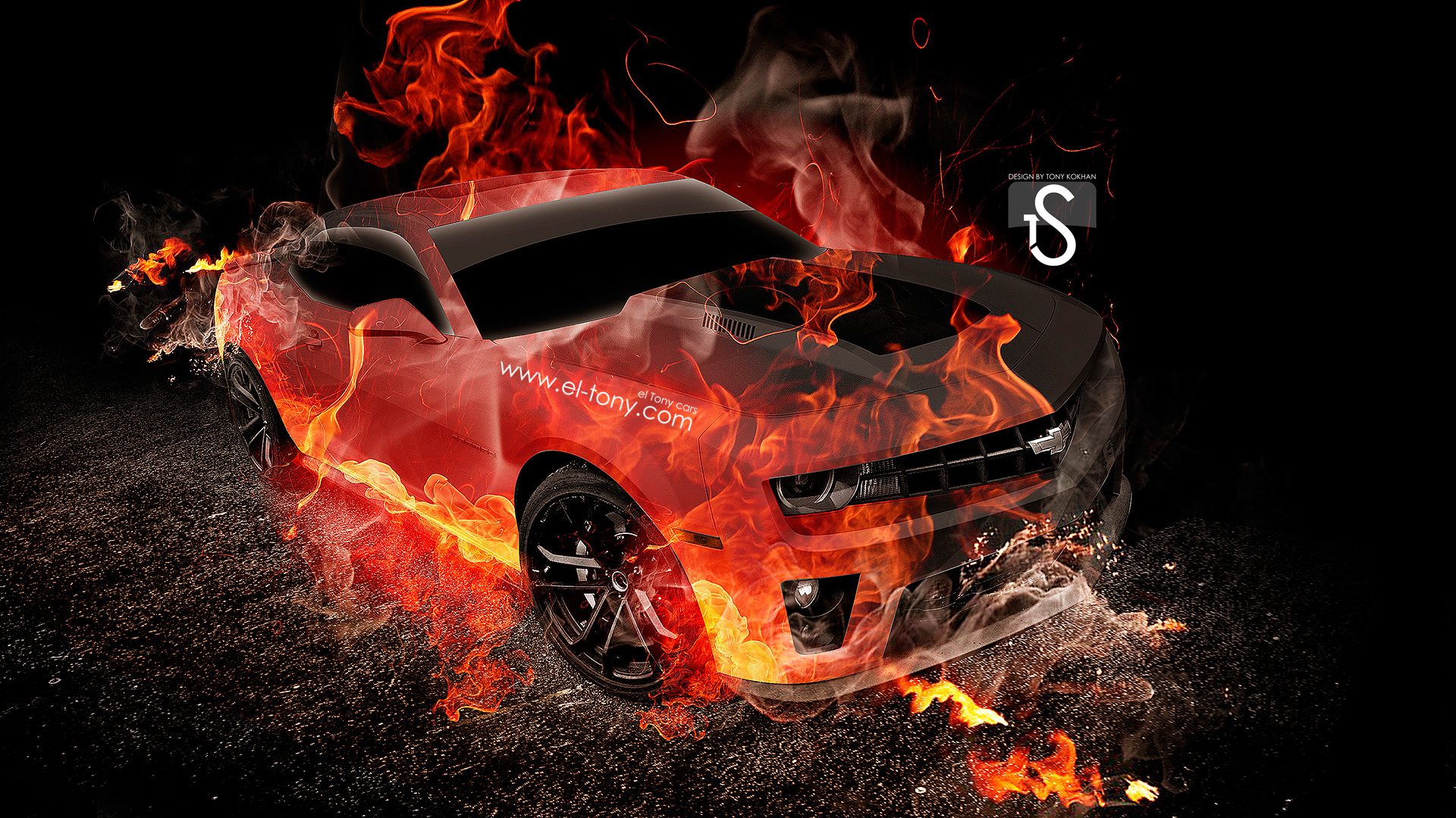 Superb ... Chevrolet Camaro Fire Abstract Car 2013 HD Wallpapers  ...