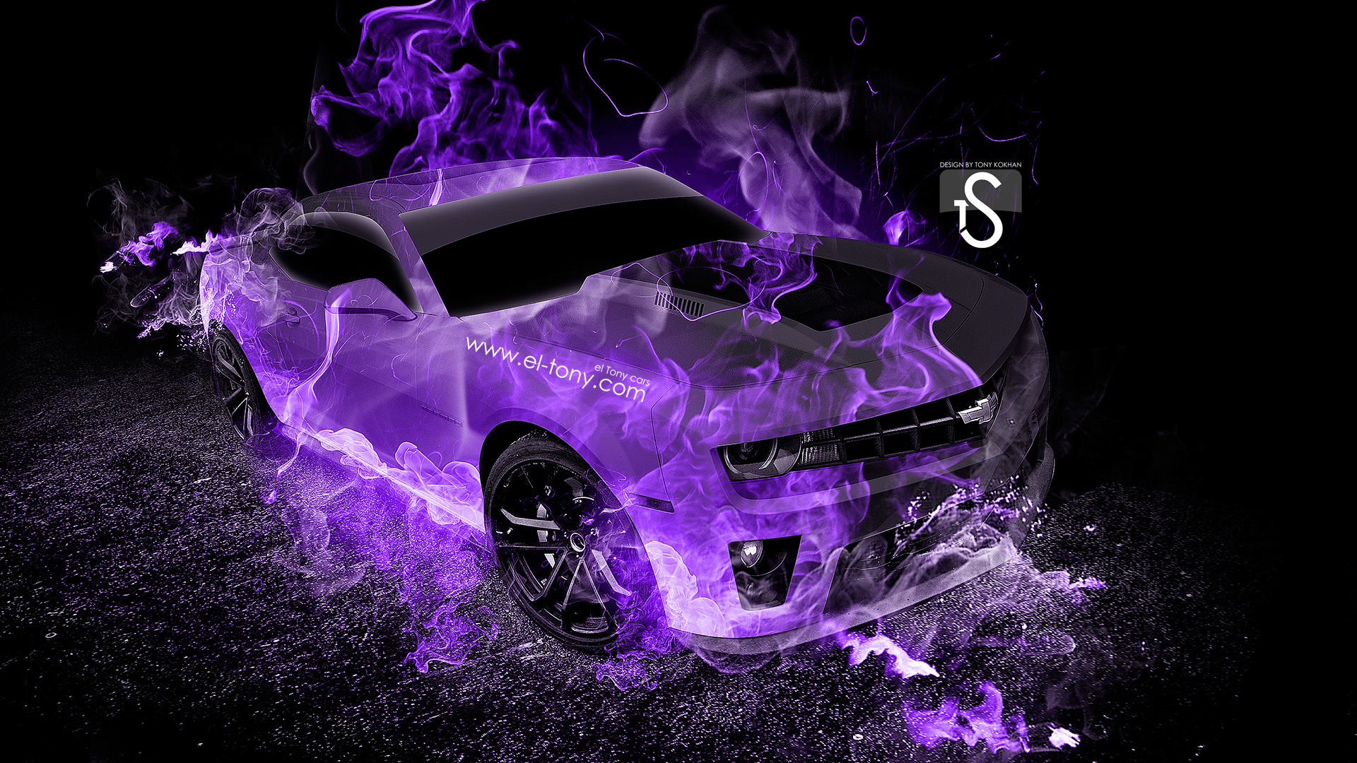 Superbe Chevrolet Camaro Violet Fire Abstract Car 2013 HD