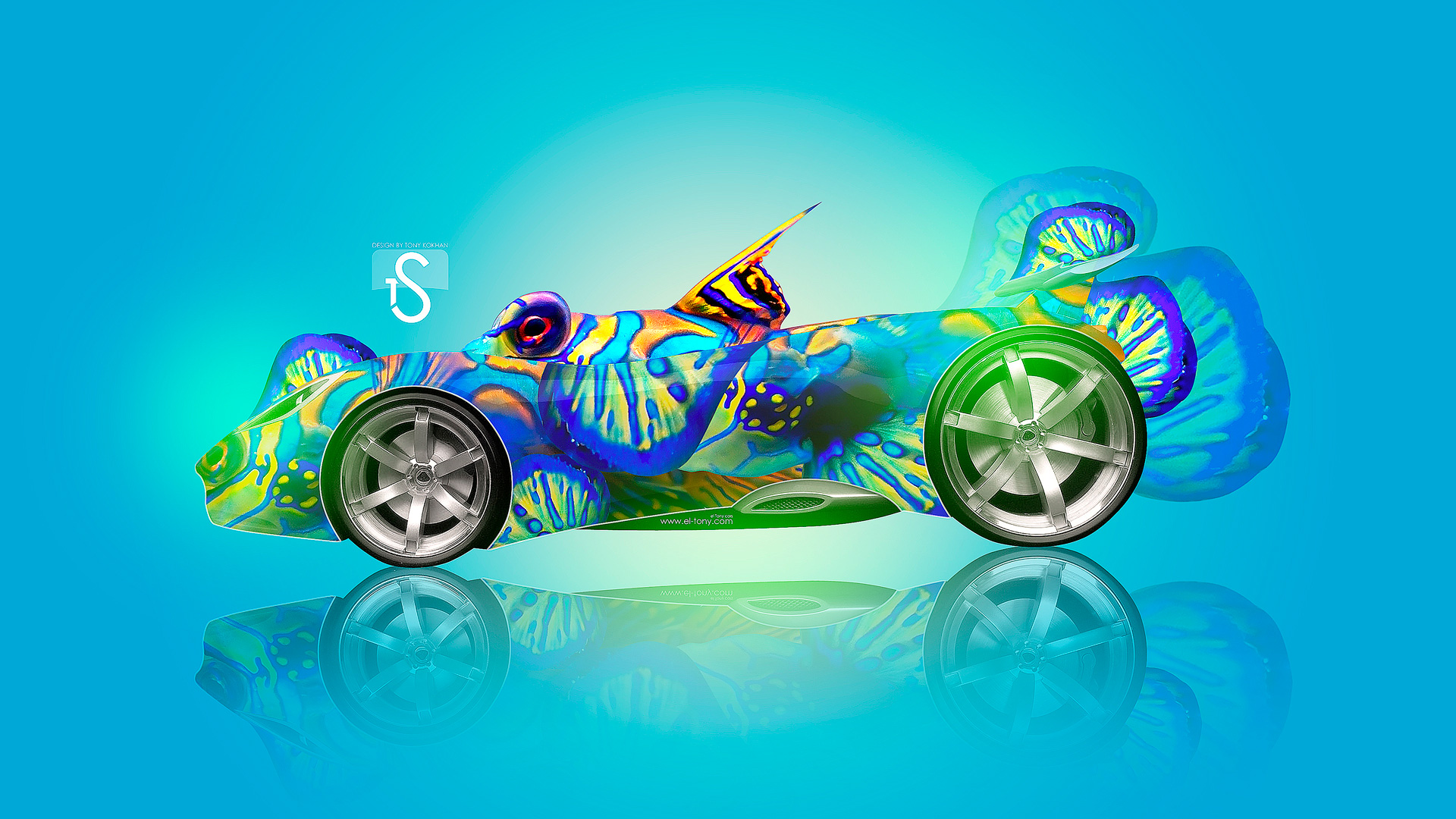 Genial Fantasy Fish Car 2013 HD Wallpapers Design By