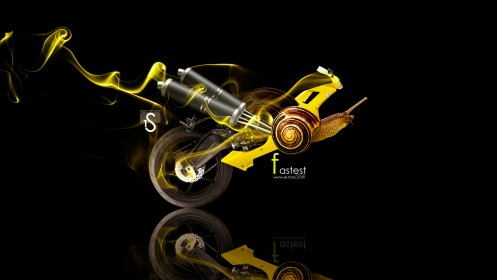 Fastest-Yellow-Moto-Snail-Fantasy-2013-HD-Wallpapes-design-by-Tony-Kokhan-[www.el-tony.com]