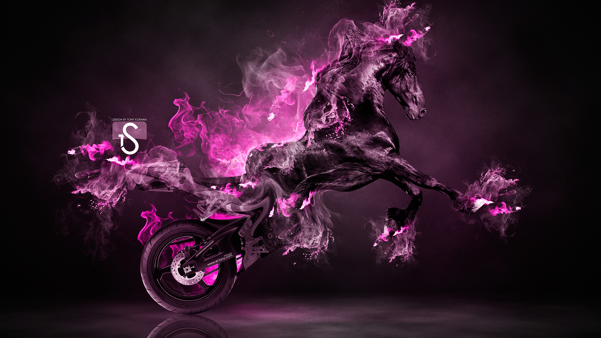 neon flame motorcycle wallpaper - photo #31