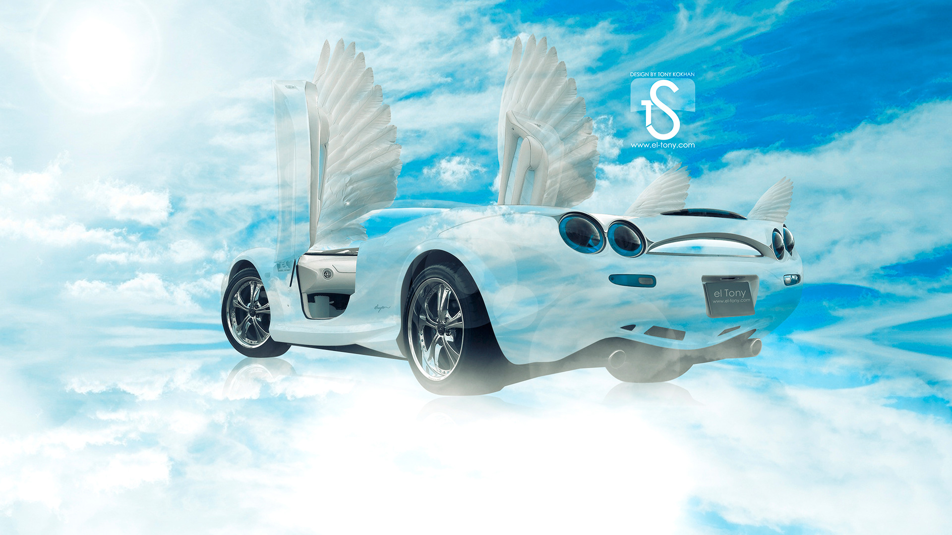 Charmant ... Fly Blue Sky Car 2013 HD Wallpapers Design
