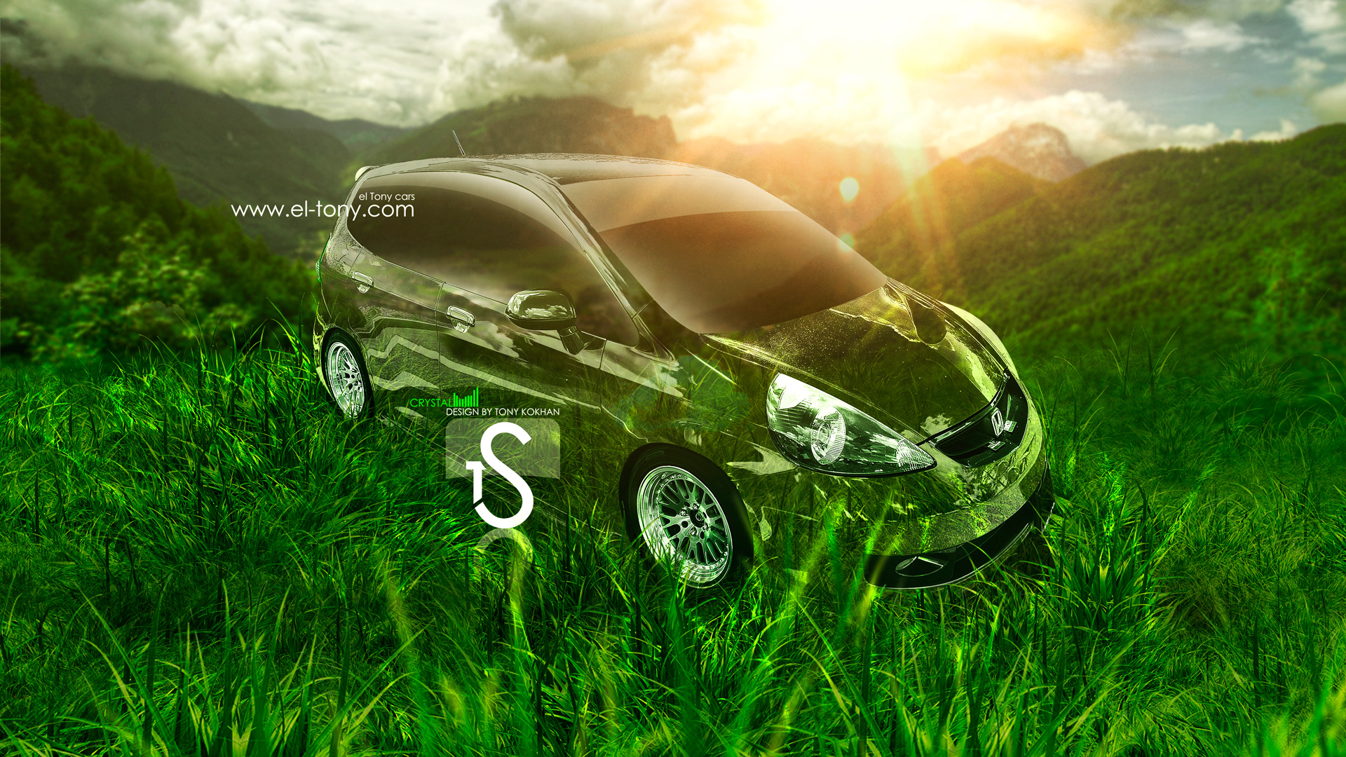 Merveilleux Honda Fit JDM Crystal Nature Car 2013 HD