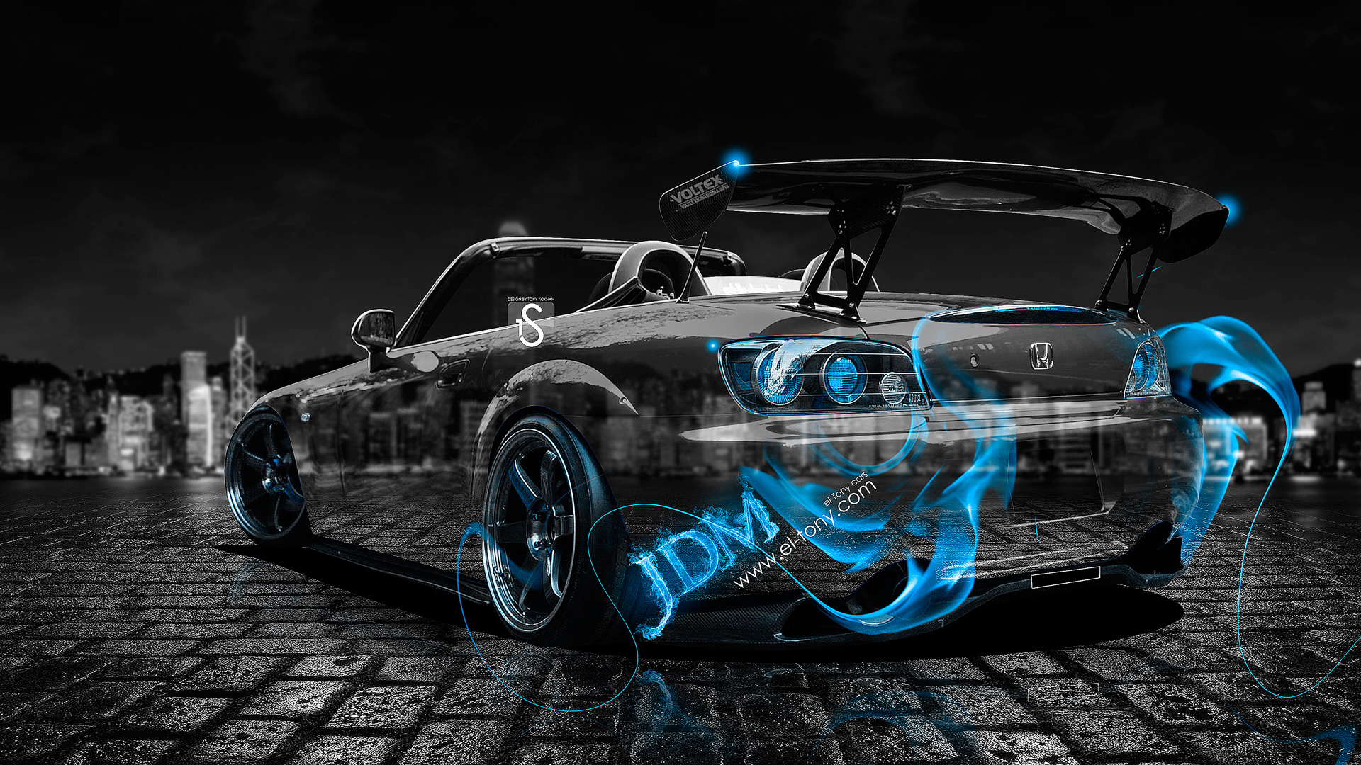 Incroyable Honda S2000 JDM Blue Fire Crystal Car 2013