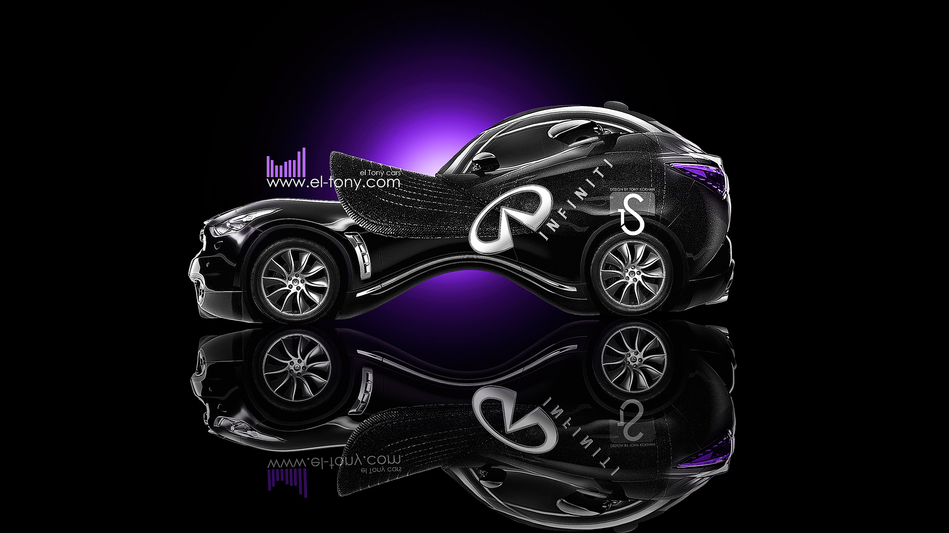 Captivating Infiniti FX35 Baseball Fantasy Car 2013 Violet Neon  ...