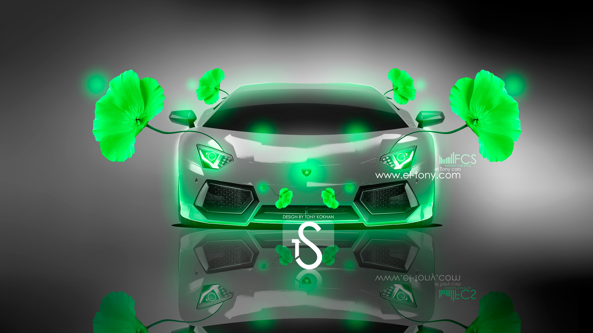 Superbe ... Lamborghini Aventador Fantasy Flowers 2013 Green Neon HD  ...