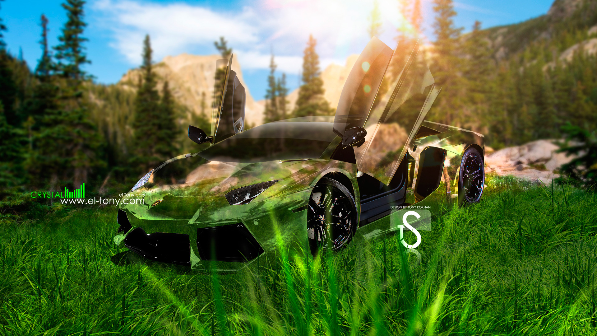 ... Lamborghini Aventador Front Crystal Nature Car 2013 HD  ...