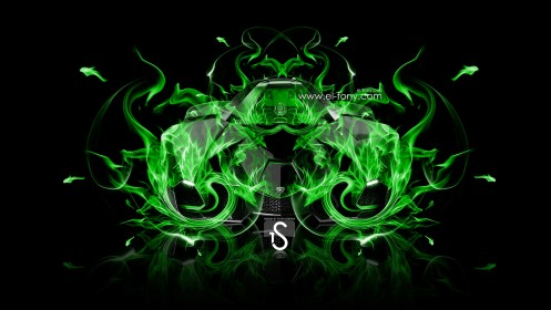 Lamborghini-Egoista-Green-Colors-Fire-Abstract-Car-2013-design-by-Tony-Kokhan-[www.el-tony.com]