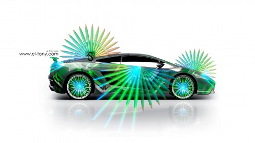 Lamborghini-Gallardo-Green-Abstract-Car-2013-HD-Wallpapers-design-by-Tony-Kokhan-[www.el-tony.com]