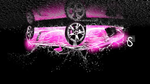 Lamborghini-Gallardo-Water-Car-Head-Down-2013-Pink-Neon-by-Tony-Kokhan-[www.el-tony.com]