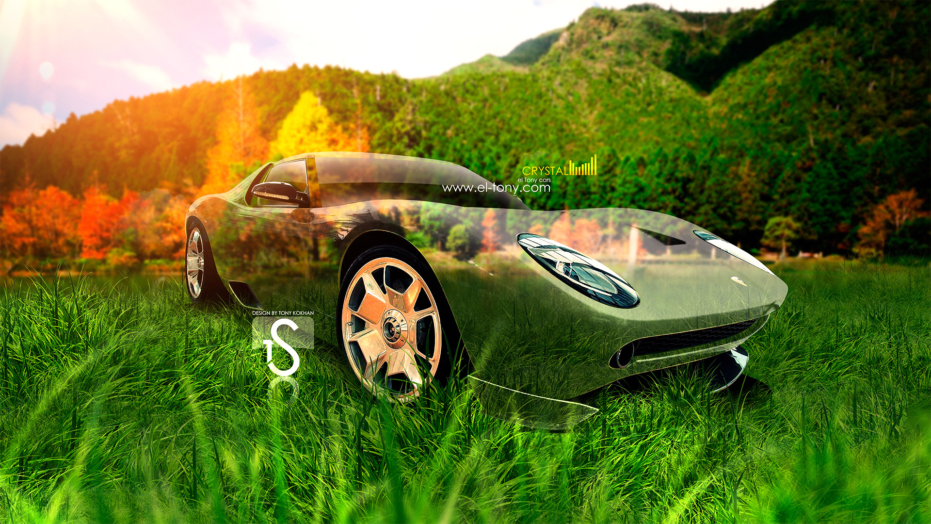 Superieur Lamborghini Miura Crystal Nature Car 2013 HD Wallpapers