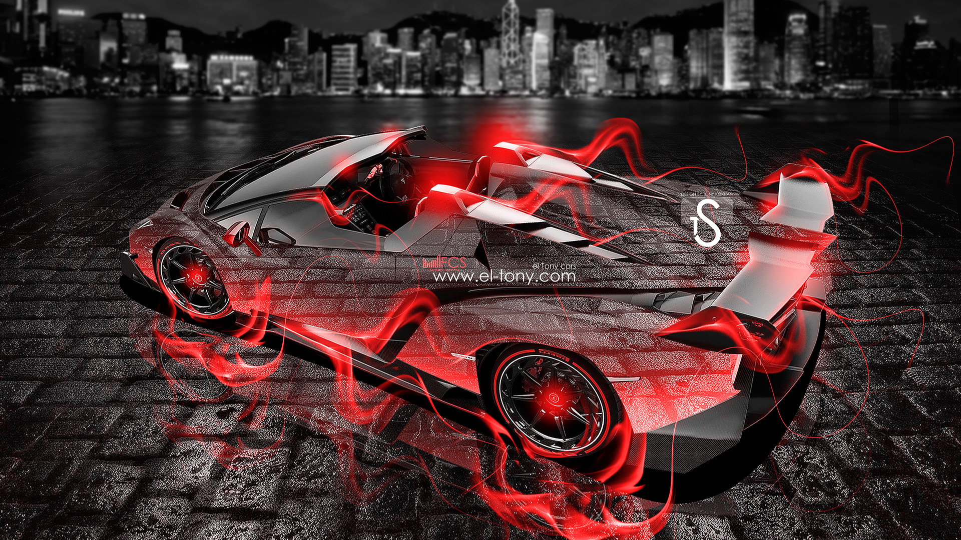 Hot 3d camaro coloring cars pictures photos images - Lamborghini Veneno Roadster Fire City Car 2013 El Tony