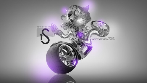 Leopard-Moto-Fantasy-Plastic-Violet-Neon-2013-HD-Wallpapers-design-by-Tony-Kokhan-[www.el-tony.com]