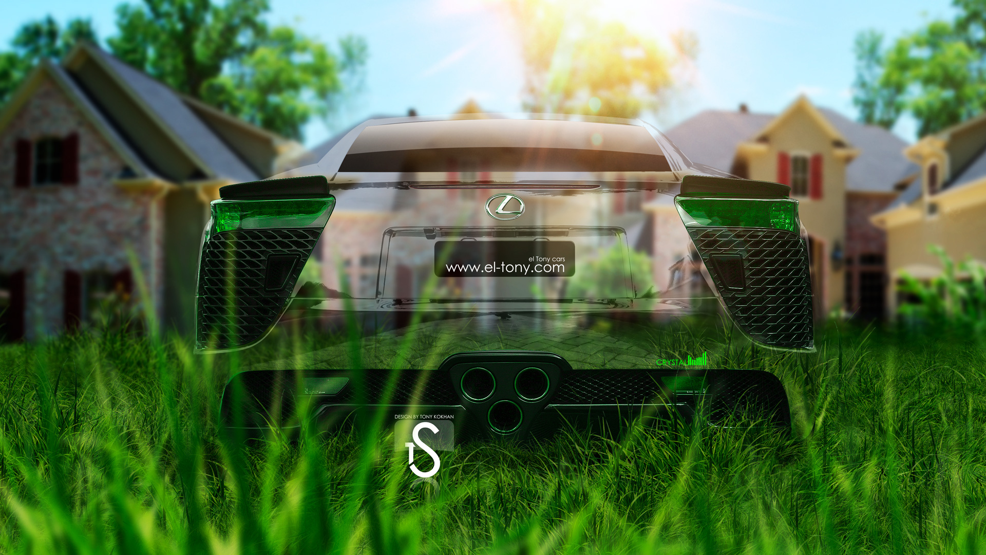 Charmant Lexus LFA Back Crystal Nature Car 2013 HD