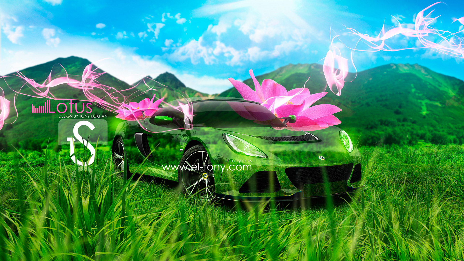 Amazing Lotus Exige Pink Flowers 2013 Crystal Nature Car