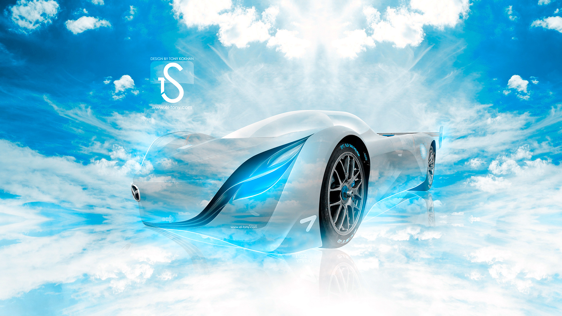 Mazda Furai Blue Sky Car 2013 HD Wallpapers .