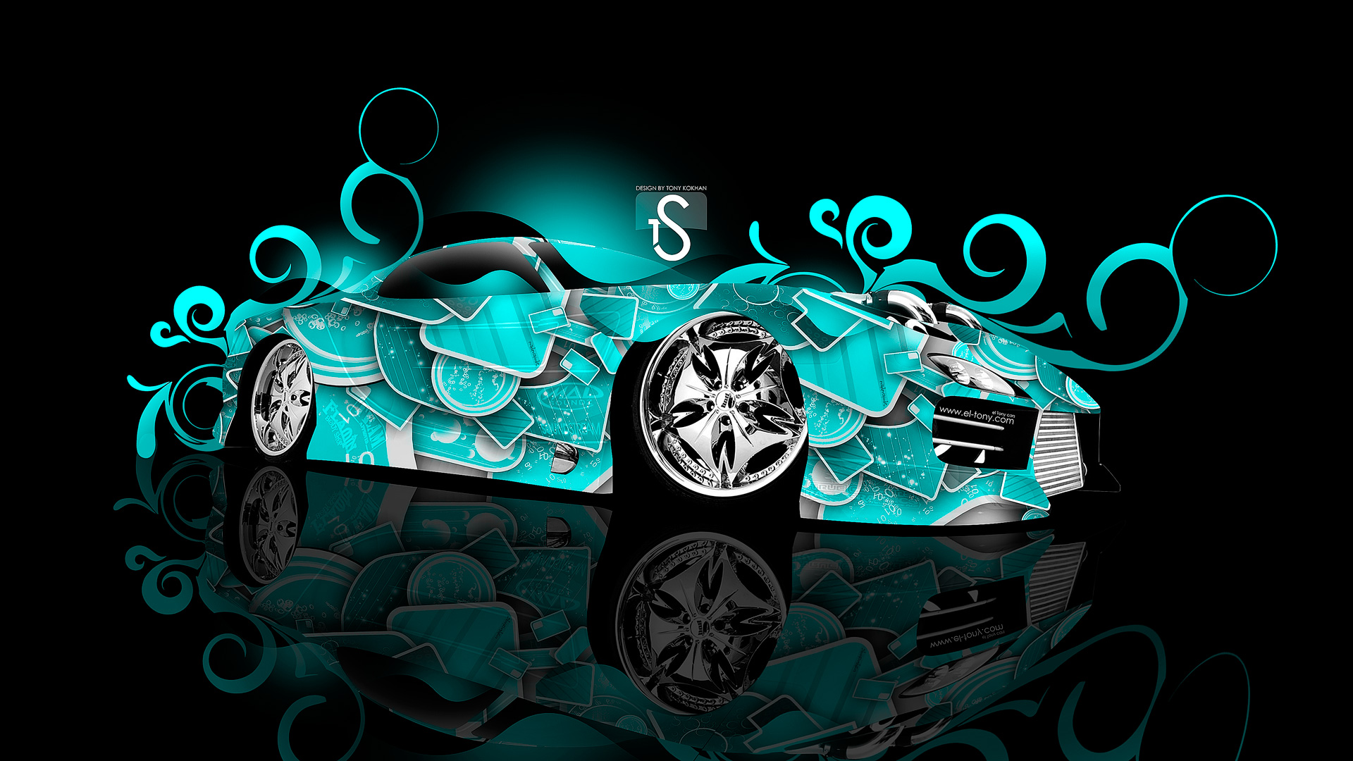 ... Mazda RX 7 Abstract 2013 Turquoise Neon HD  ...