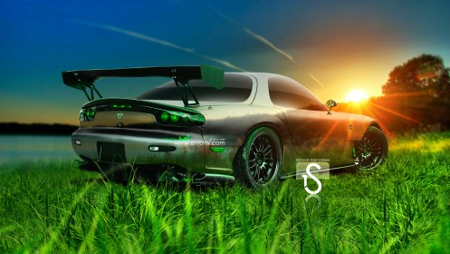 Mazda-RX7-JDM-Crystal-Nature-Car-2013-HD-Wallpapers-design-by-Tony-Kokhan-[www.el-tony.com]