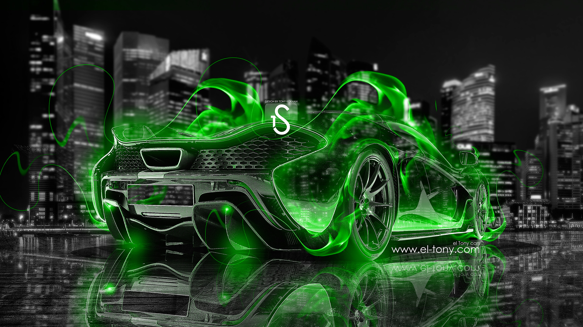 ... McLaren P1 Green Fire City Car 2013 Crystal  ... Great Ideas