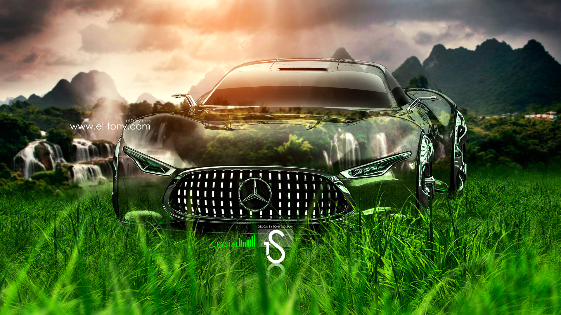 Merveilleux Mercedes Benz Vision Gran Turismo Crystal Nature Car