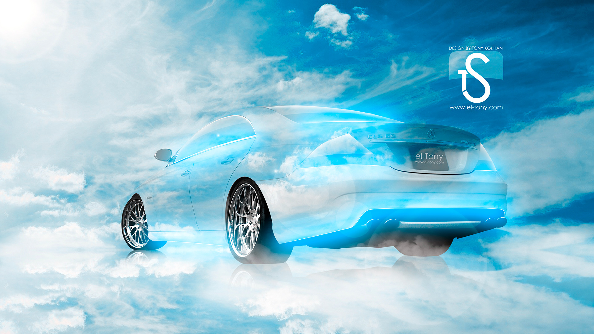 Beau ... Mercedes CLS Blue Sky Car 2013 HD Wallpapers .
